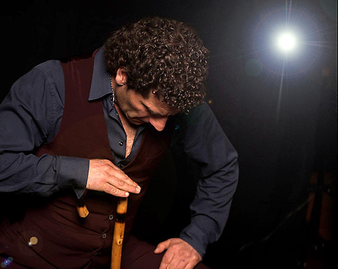 José Fortes Flamencotänzer der spanischen Gruppe Gipsy Family Los Payos
