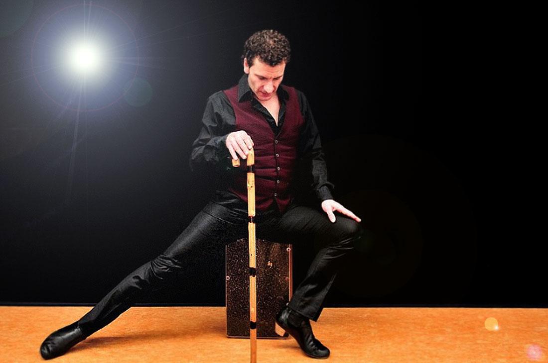 José Fortes, erstklassiger Flamencotänzer mit Bastón, Tänzer der spanischen Band Gipsy Family Los Payos