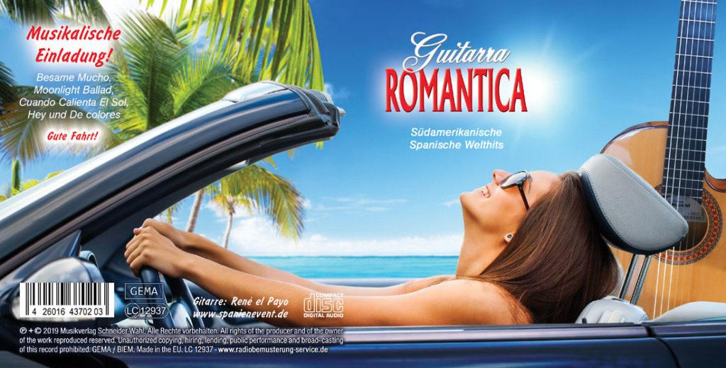 Spanische Gitarrenmusik mit der Guitarra Romantica von René el Payo als Kunden-Werbe-CD