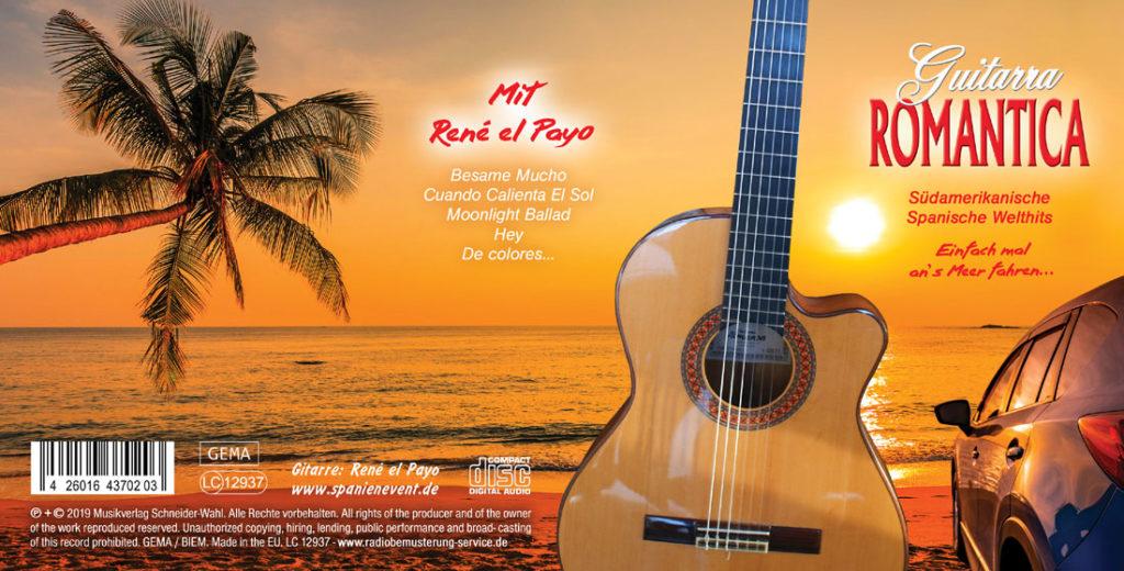 Spanische Gitarrenmusik mit der Guitarra Romantica von René el Payo als Kunden-Werbe-CD für Autohäuser